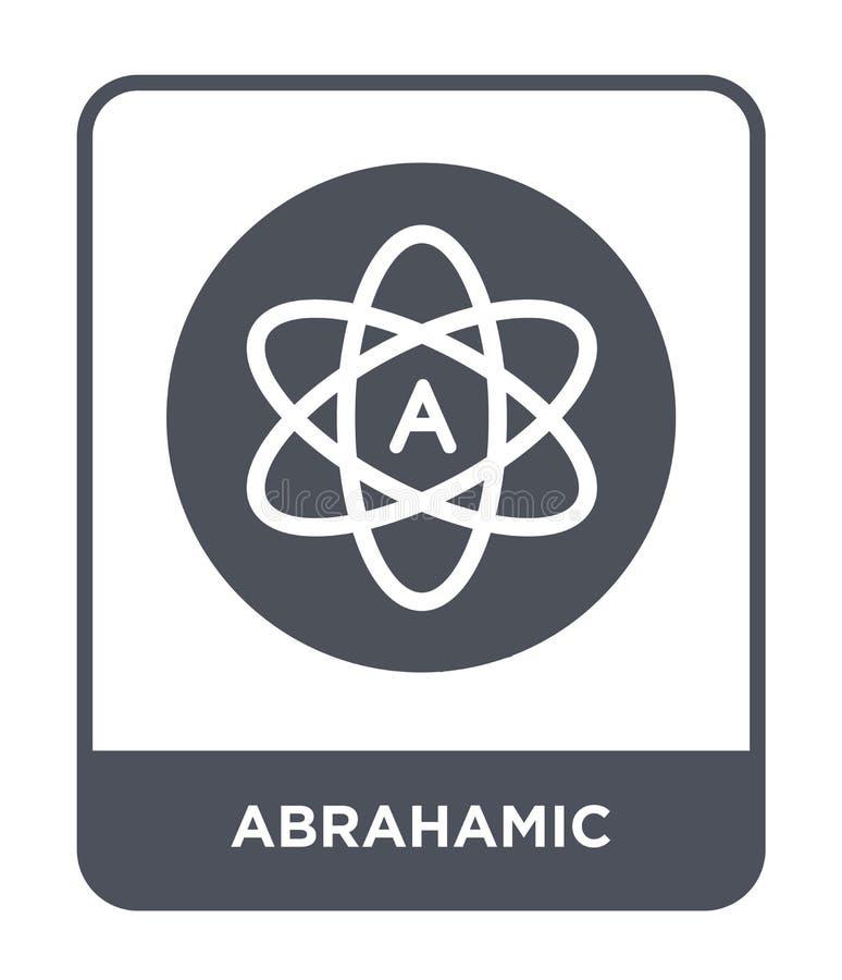 abrahamic pictogram in in ontwerpstijl abrahamic die pictogram op witte achtergrond wordt geïsoleerd abrahamic vectorpictogram ee vector illustratie