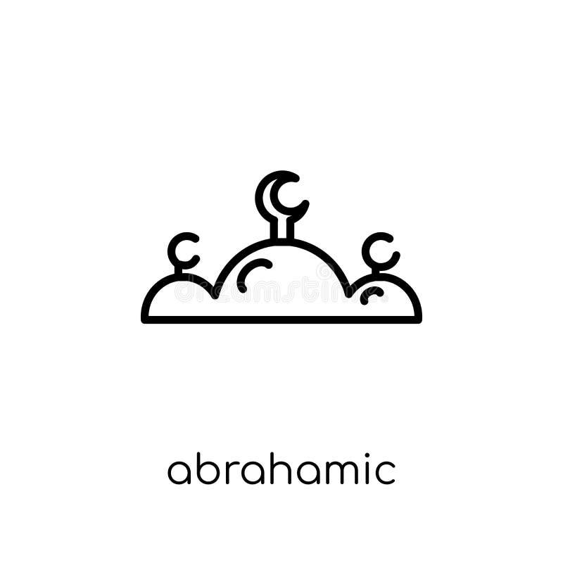 Abrahamic symbol Moderiktig modern plan linjär vektorAbrahamic symbol vektor illustrationer