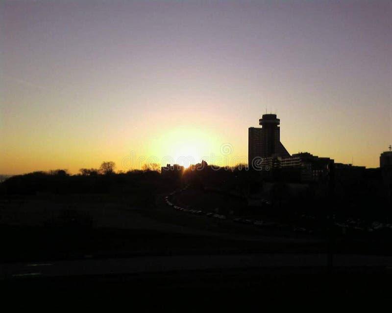 ` Abrahams dos plaines d de Les, coucher de soleil imagens de stock