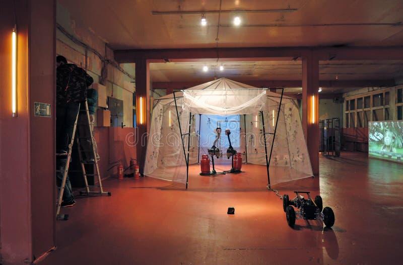 abrakadabra Youngart Międzynarodowa sztuka współczesna Biennale w Moskwa obrazy royalty free