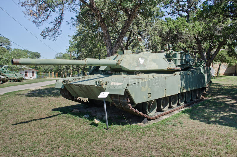 Abrams tank in museum. American Abrams tank in Texas Military Forces Museum in Austin, Texas stock photos