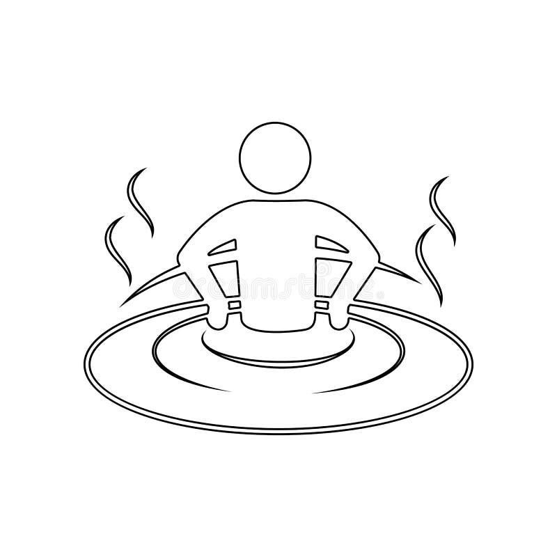abrandamento no ?cone da banheira Elemento dos TERMAS para o conceito e o ?cone m?veis dos apps da Web Esbo?o, linha fina ?cone p ilustração do vetor