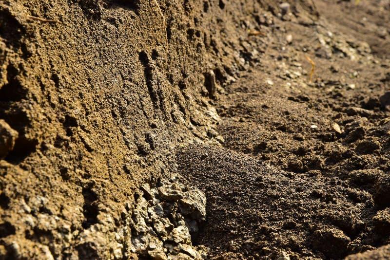 Abrasive soil erosion royalty free stock image