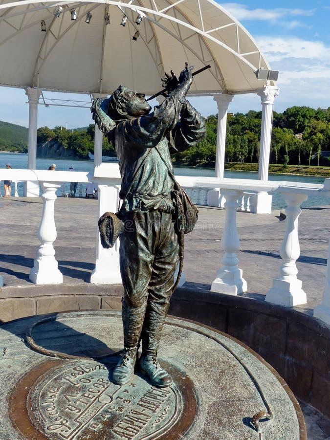 ABRAU DURSO, RUSSIE Monument d'un berger du ` de Jolly Fellows de ` de film image stock