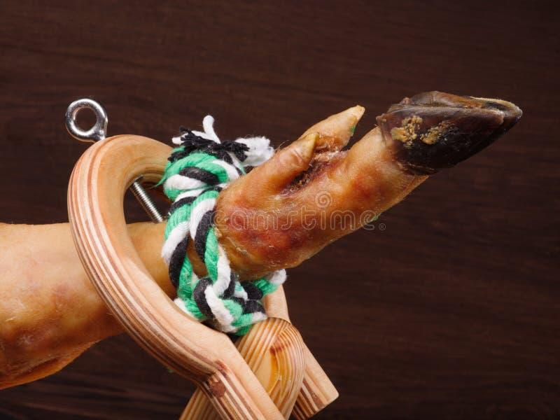 Abrazadera para Jamon tradicional foto de archivo libre de regalías