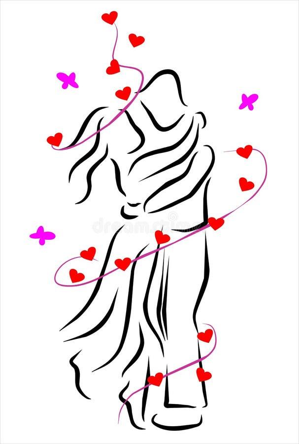 Abrazo libre illustration