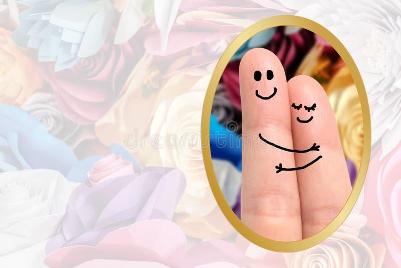 Abrazo del finger foto de archivo libre de regalías