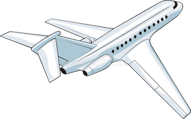 Abreisenflugzeug stock abbildung