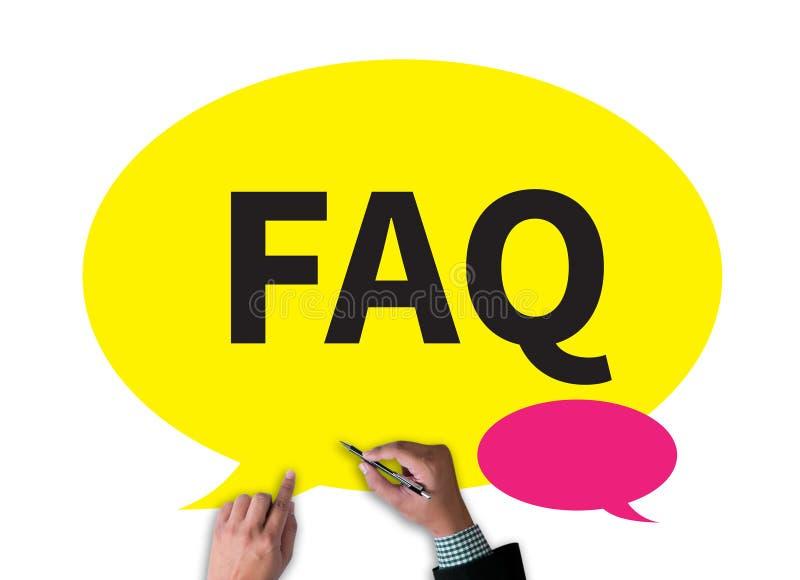 Abreviatura del FAQ (hecha con frecuencia preguntas) ilustración del vector