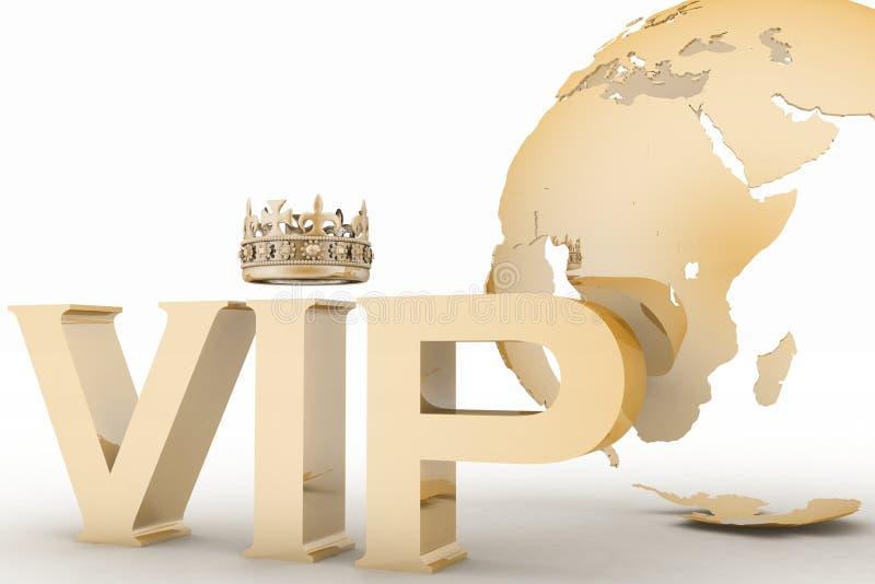 Abreviatura del VIP con una corona libre illustration