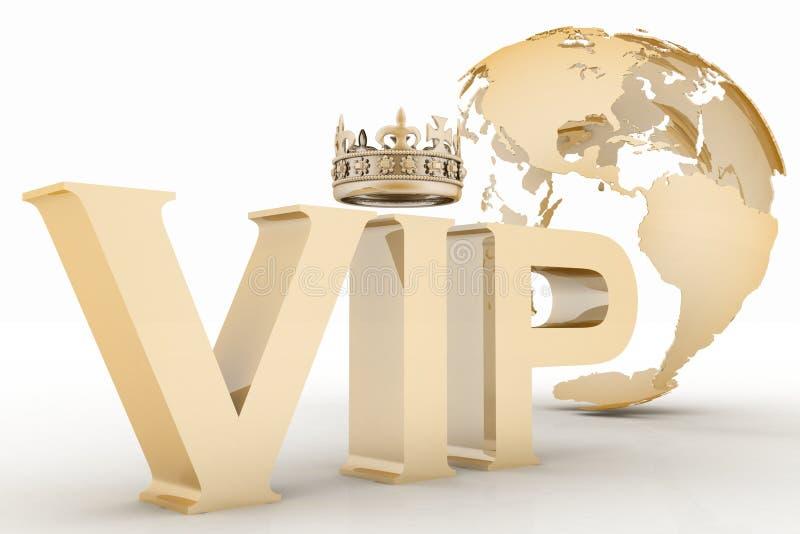 Abreviatura del VIP con una corona stock de ilustración