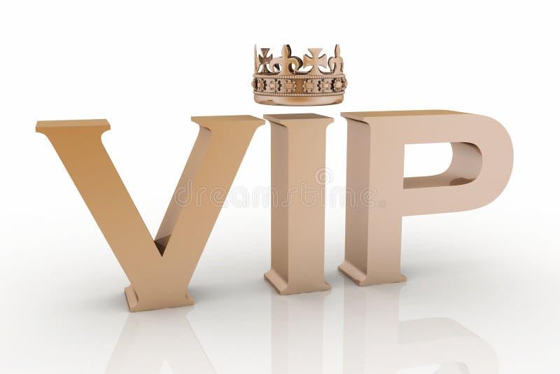 Abreviatura do VIP com uma coroa ilustração stock