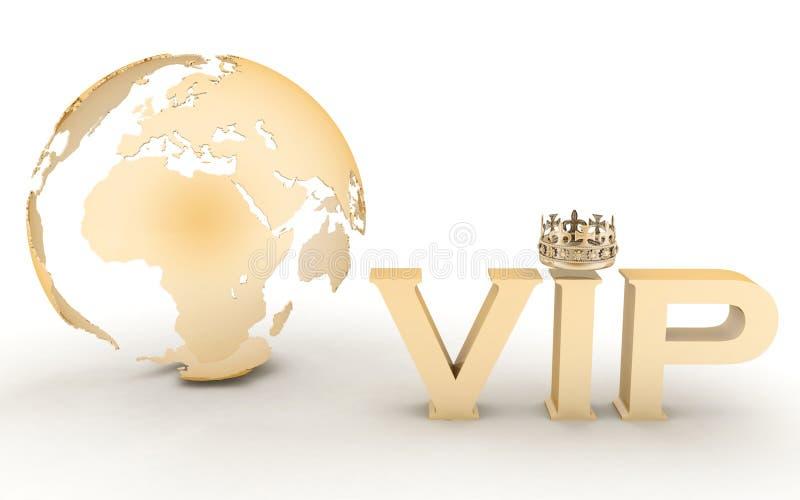 Abreviatura do VIP com uma coroa ilustração do vetor