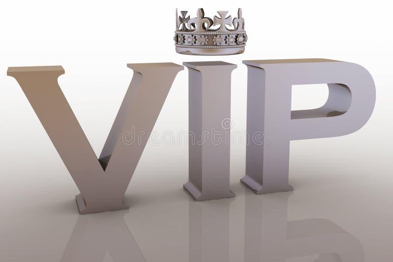 Abreviatura do VIP com uma coroa ilustração royalty free