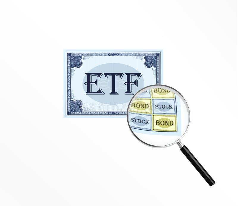 Abreviatura ETF stock de ilustración
