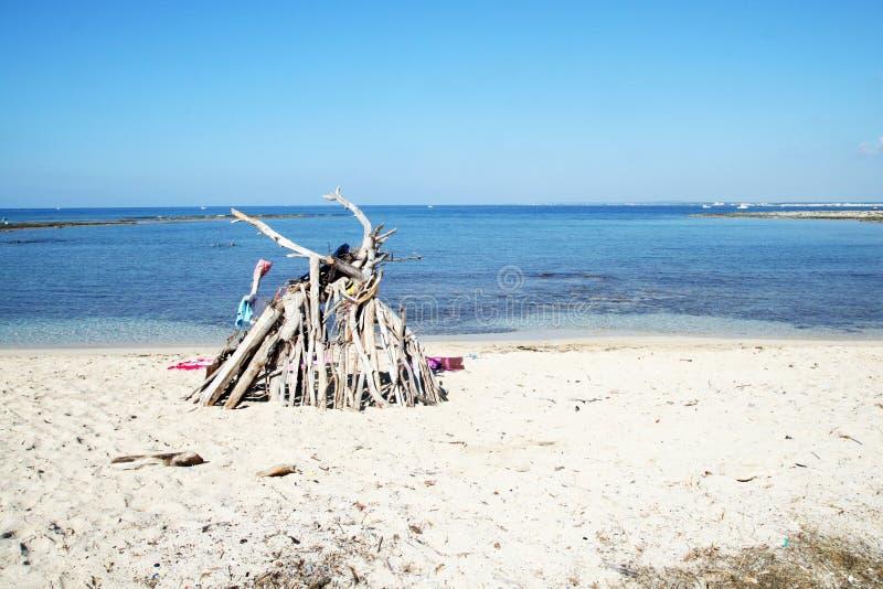 Abri de plage photographie stock