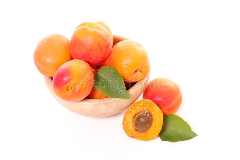 Abricot et feuille photo libre de droits