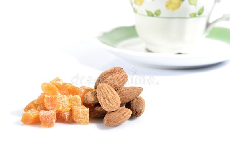 Abricots secs et almods photo libre de droits
