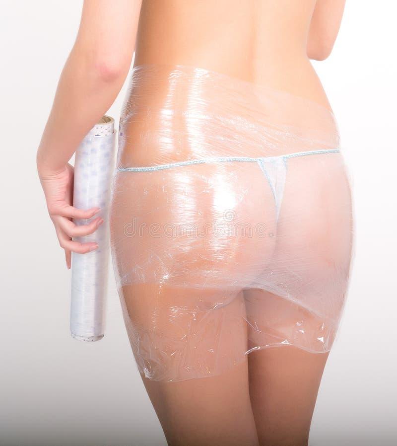 Abrigo cosmético slimming El cuidar para la hembra fotos de archivo libres de regalías