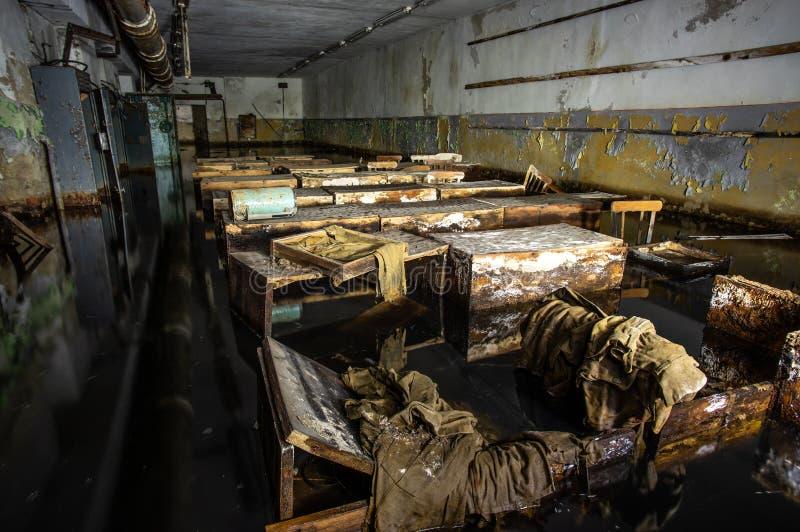 Abrigo de bomba soviético abandonado fotografia de stock royalty free