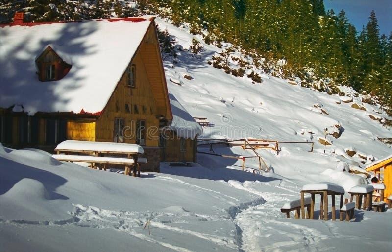 Abrigo del escalador de montaña fotografía de archivo libre de regalías