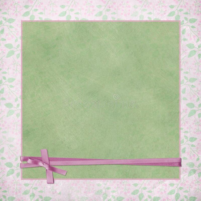 Abrigo rosado de la cinta ilustración del vector