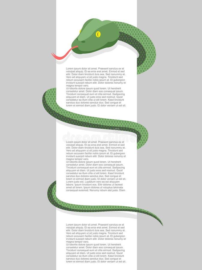 Abrigos de la serpiente alrededor Con el espacio para el texto Ilustración del vector Re libre illustration