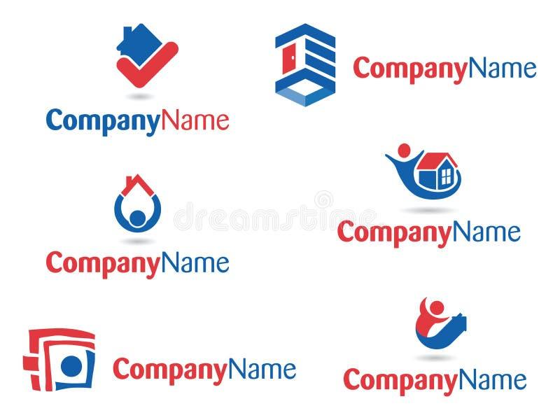 Abrigue a coleção 2 dos logotipos dos povos imagem de stock