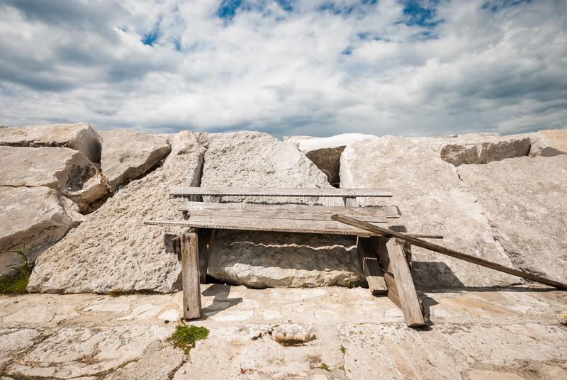 Abrigue detalhes, Fazana, Istria, Croácia foto de stock