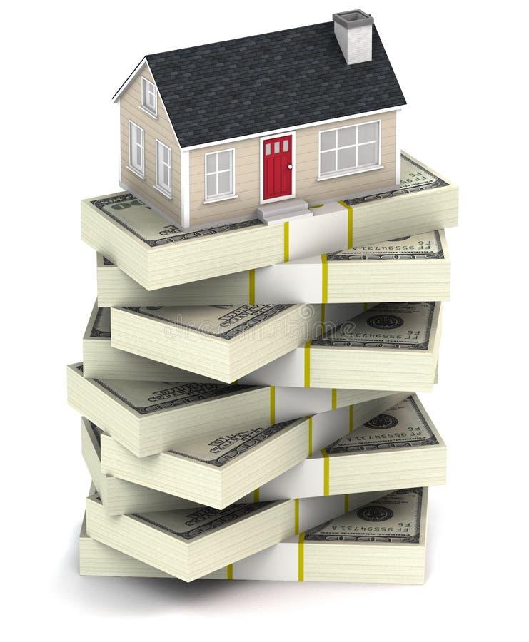 Abrigue a hipoteca ilustração stock