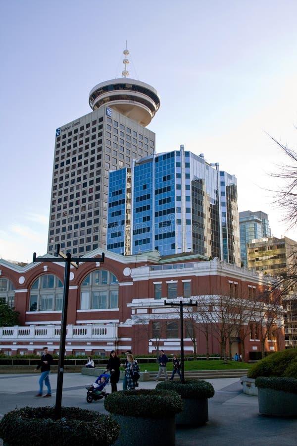 Abrigue la estación del centro y de la costa, puerto del carbón, Vancouver, A.C. fotografía de archivo libre de regalías