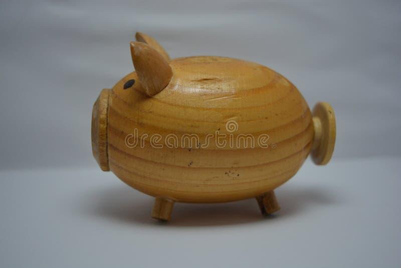 Abrigue os utensílios, porco de madeira da mistura de uma árvore para o sal imagens de stock royalty free