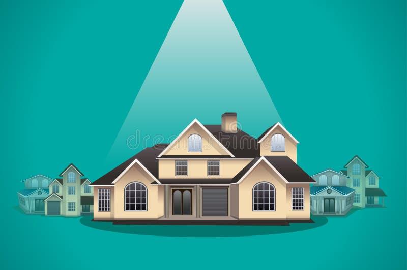 Abrigue a seleção, ilustração do vetor do conceito dos bens imobiliários ilustração royalty free