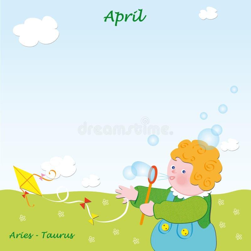 Download Abril ilustração stock. Ilustração de cartoon, sabão - 12802003