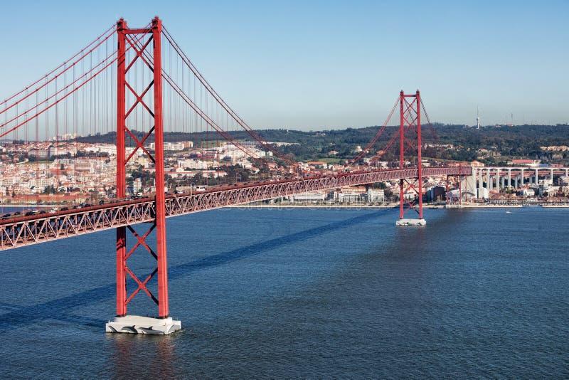 25 abril bridżowy de Lisbon obrazy stock