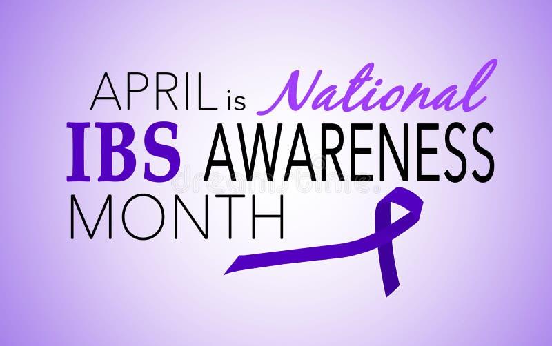 Abril es mes de la conciencia del síndrome de intestino irritable IBS ilustración del vector