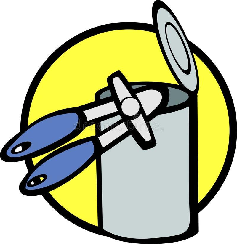 Abrindo uma lata ilustração royalty free
