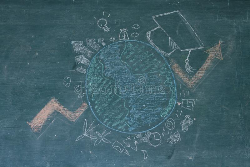 Abroad educational and Global learning concept. royalty free stock photos