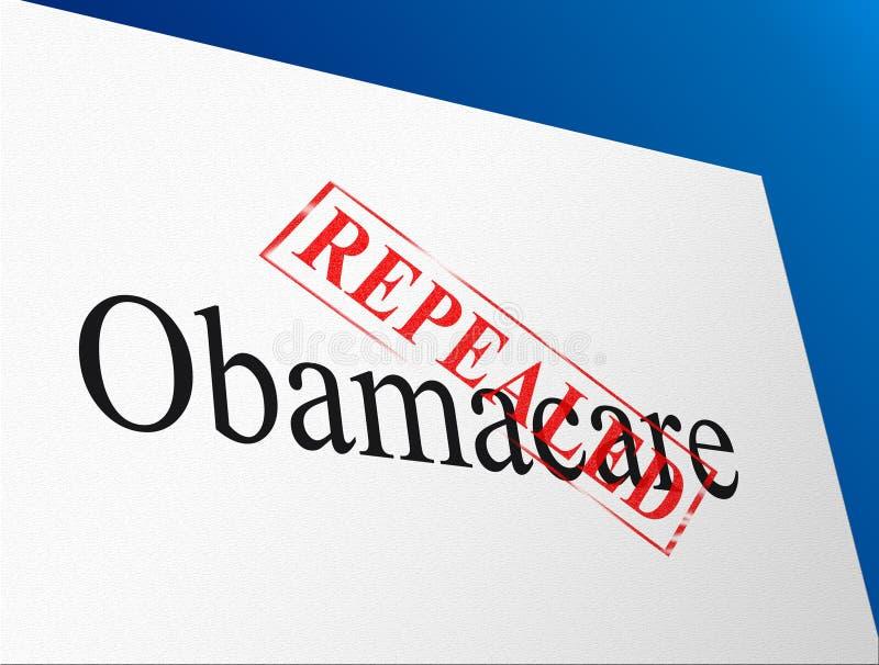 Abrogation d'Obamacare ou nous remplacer réforme de soins de santé - illustration 3d illustration de vecteur
