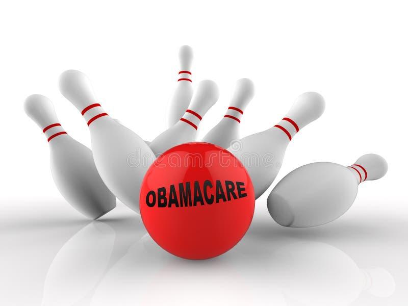 Abrogation d'Obamacare ou nous remplacer réforme de soins de santé - illustration 3d illustration stock