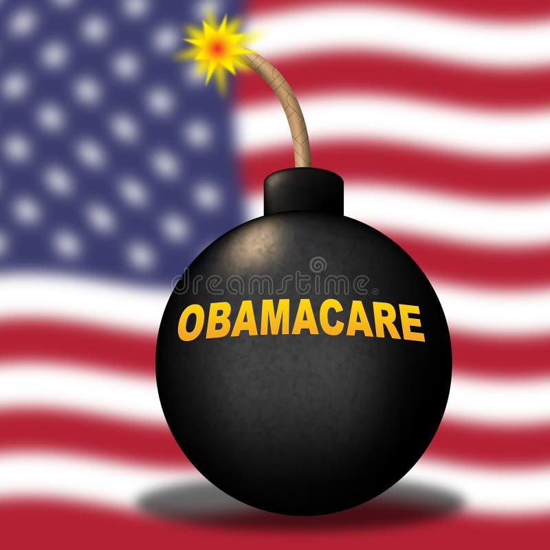 Abrogation d'Obamacare ou nous remplacer réforme de soins de santé - illustration 3d illustration libre de droits