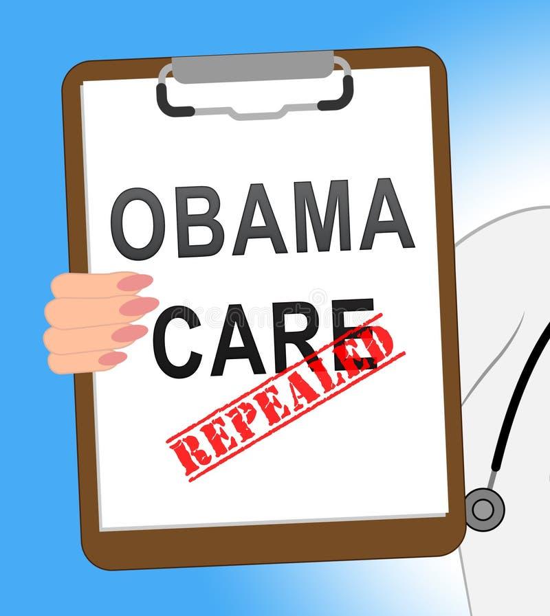 Abrogation d'Obamacare ou remplacer la réforme américaine d'acte de soins de santé - illustration 3d illustration libre de droits