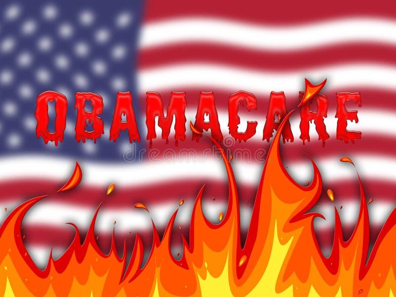 Abrogation d'Obamacare ou remplacer la réforme américaine de soins de santé - 2d illustration illustration de vecteur