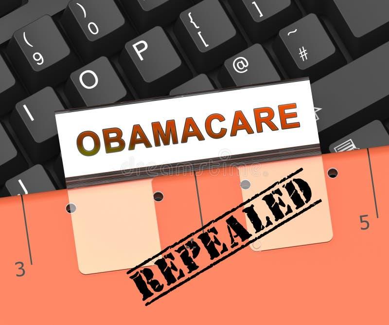 Abrogation d'Obamacare ou remplacer la réforme américaine de soins de santé - illustration 3d illustration de vecteur