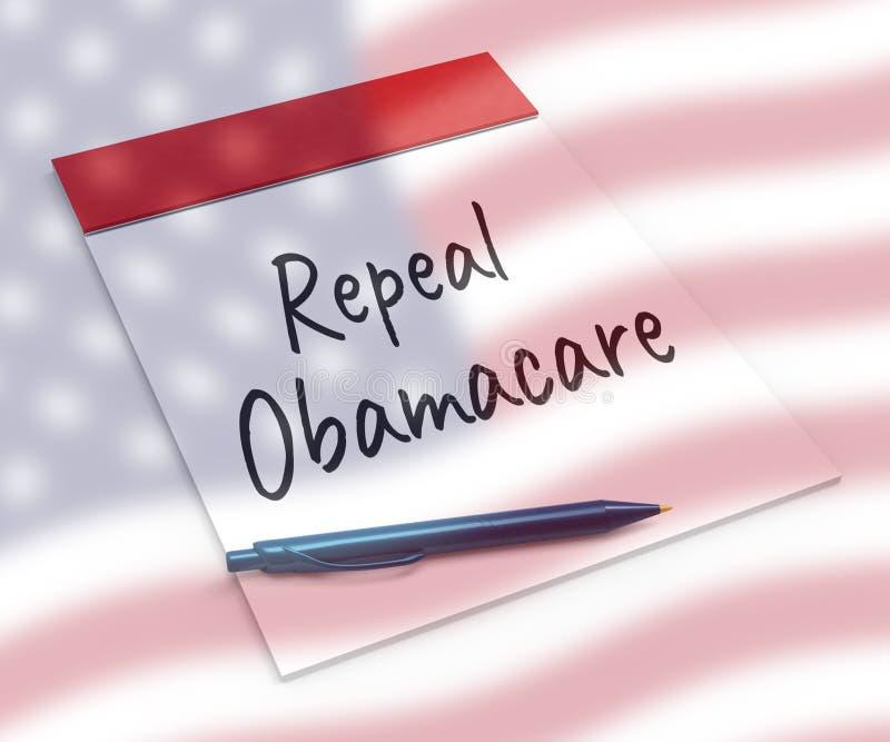 Abrogation d'Obamacare ou remplacer la réforme américaine de soins de santé - illustration 3d illustration stock