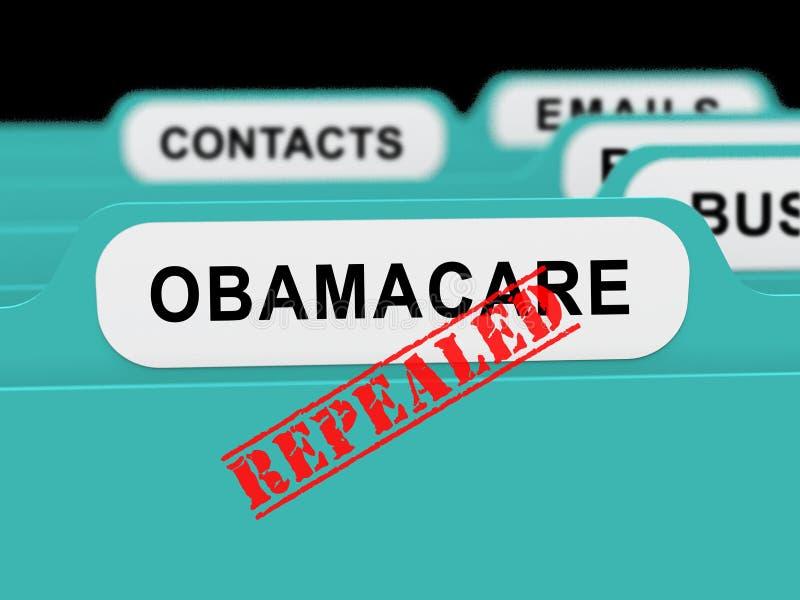 Abrogation d'Obamacare ou remplacer la réforme américaine de soins de santé - illustration 3d illustration libre de droits