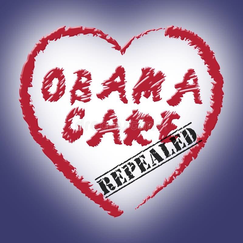 Abrogation d'Obamacare ou remplacer la réforme américaine de soins de santé - 2d illustration illustration libre de droits