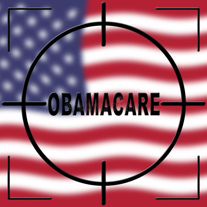 Abrogation d'Obamacare ou remplacer la réforme américaine de soins de santé - 2d illustration illustration stock