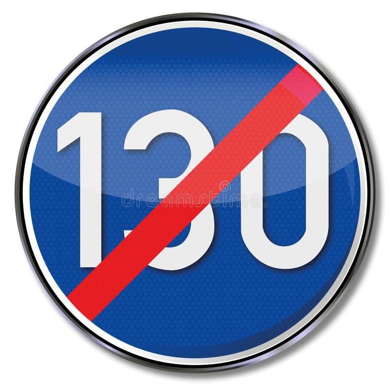 Abrogation de la vitesse directive de 130 illustration de vecteur