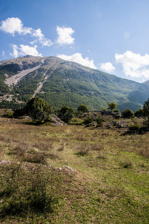 Abruzzo-Mountain View lizenzfreies stockfoto